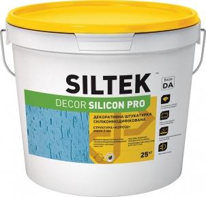 Siltek Decor Silicon PRO короед.  Штукатурка декоративная силиконмодифицированная (2,0 мм), 25 кг