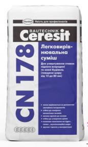 Ceresit CN 178. Легковыравнивающаяся смесь