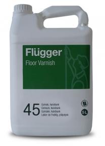 Flugger. Полиуретан-акриловый лак Floor Varnish Semi-gloss 45, 5л