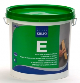 Kiilto E. Готовая к применению финишная шпатлёвка для стен и потолков