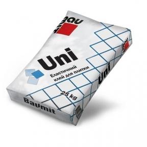 Baumit Uni. Клеящая смесь для облицовки керамогранитной плитки 25кг