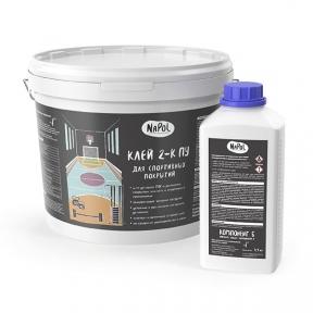 NaPol. Клей 2-К ПУ для спортивных покрытий, 11 кг