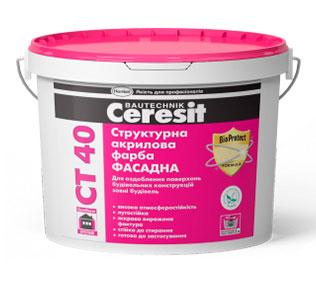 Ceresit CT 40. Структурная акриловая краска 10л