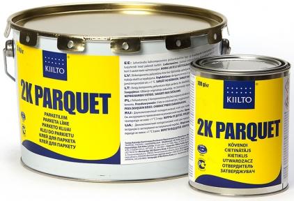 Kiilto 2K PU. Полиуретановый 2-х компонентный клей для паркета
