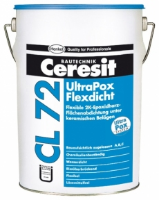 Ceresit CL 72. Химически стойкое  гидроизоляционное покрытие UltraPox FlexSeal, 10кг